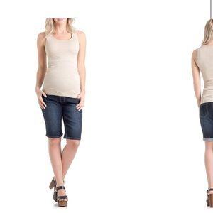 Lilac Clothing Maternity Bermuda Jean Shorts